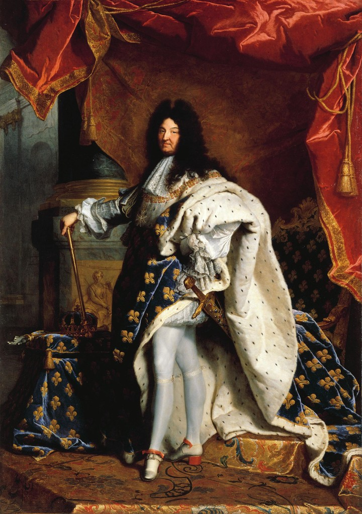 Louis XIV of France, the Sun King. Scorpio Rising, Sun in Virgo --- Moon-Venus in Leo. It's interesting that he chose to project the Venus sign.