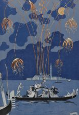 Fireworks in Venice by George Barbier.