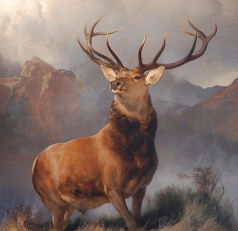 Monarch of the Glen by Edwin Landseer. This was produced while Jupiter in Libra opposed Uranus in Aries and Neptune was in Pisces — same set up as now.