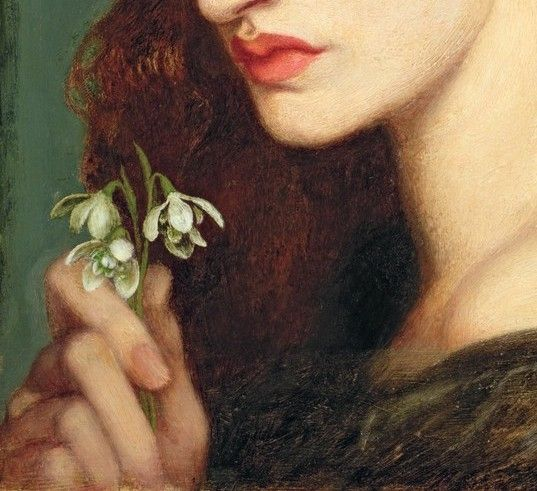 Detail of Blanzifiore by DG Rossetti