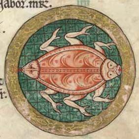 from The Hunterian Psalter. 12th century