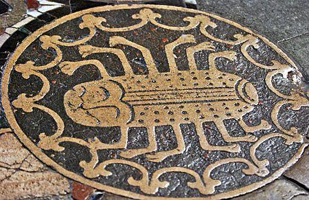 Canterbury Cathedral floor.