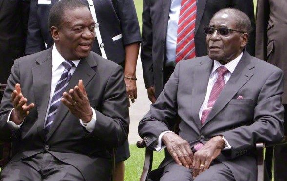 Mnangagwa and Mugabe in friendlier times.