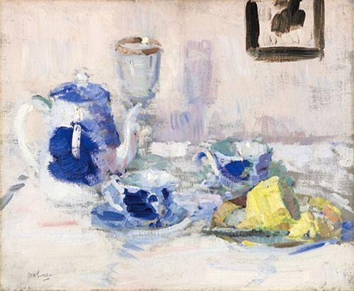 Blue and White — Francis Cadell