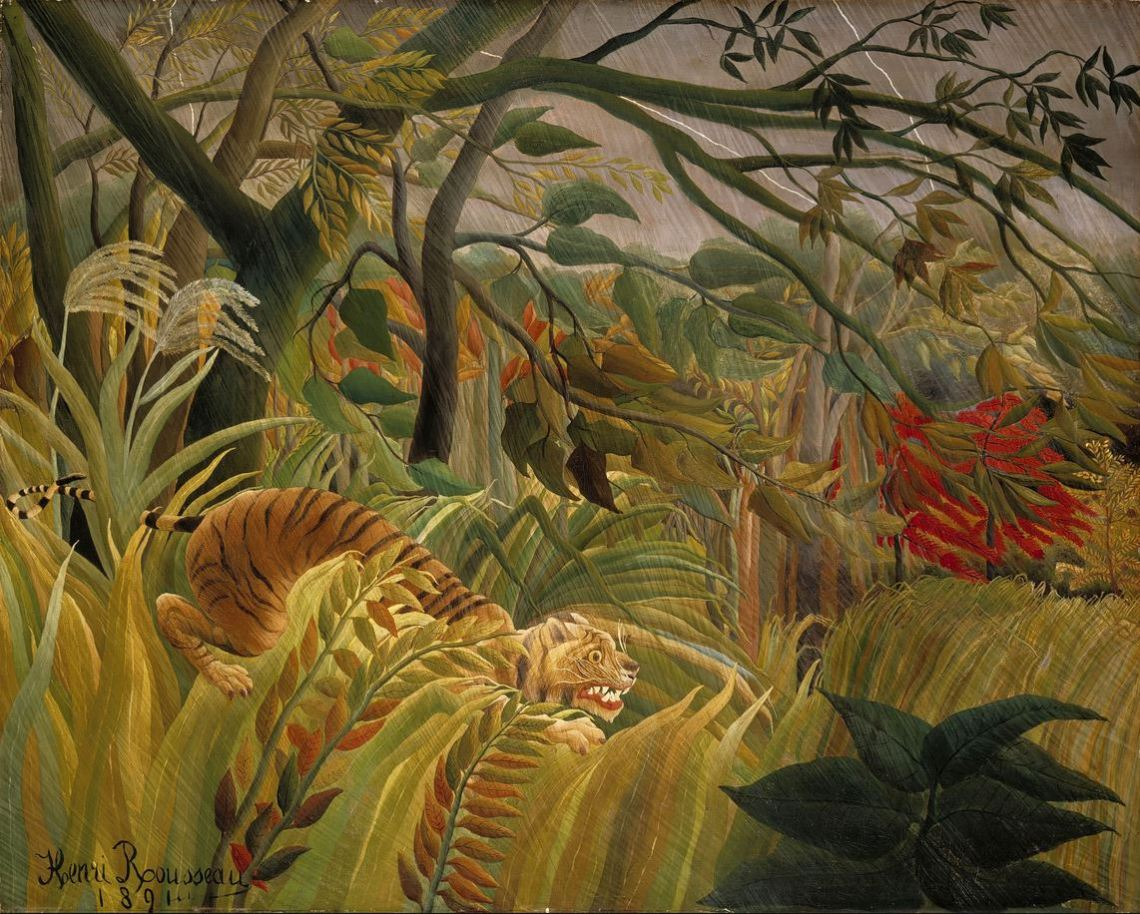 Tiger in a Tropical Storm — Henri Rousseau