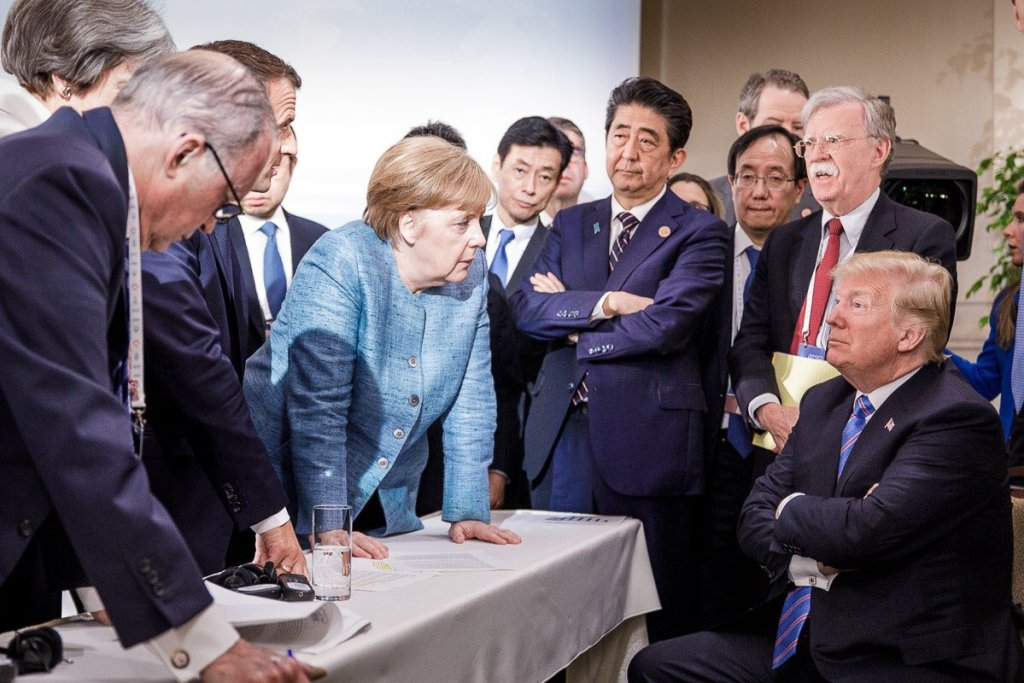 Picture of the G6 + 1 released today by the office of Angela Merkel
