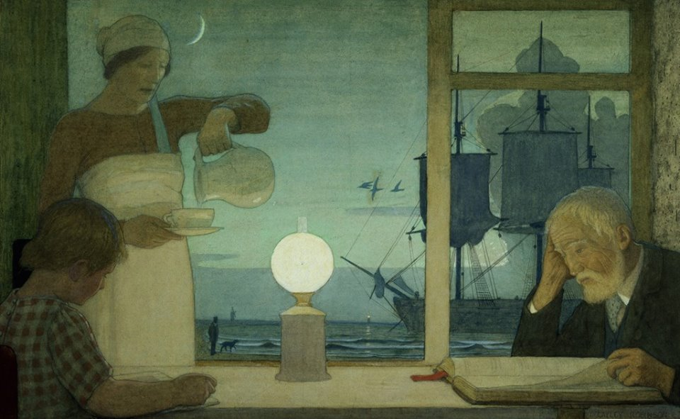 The Day of Rest — Frederick Cayley Robinson