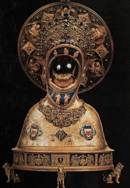 Reliquary of the jaw of St Anthony of Padua, Finder of Lost Things.