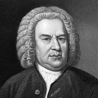 Johann Sebastian Bach (1685-1750) on engraving from 1857. German composer, organist, harpsichordist, violist and violinist. Engraved by C.Cook and published in Imperial Dictionary of Universal Biography, Great Britain, 1857.