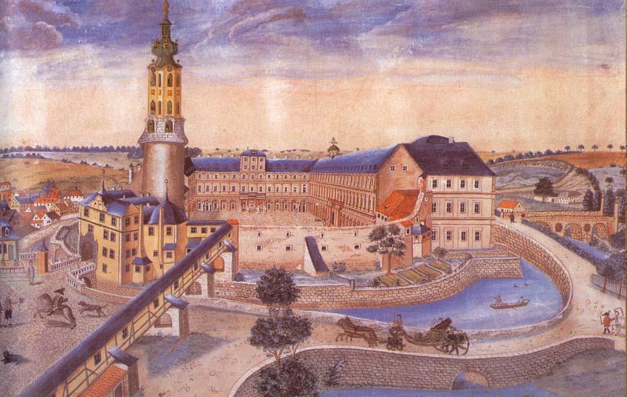 The Wilhelmsburg Palace in Weimar around 1730
