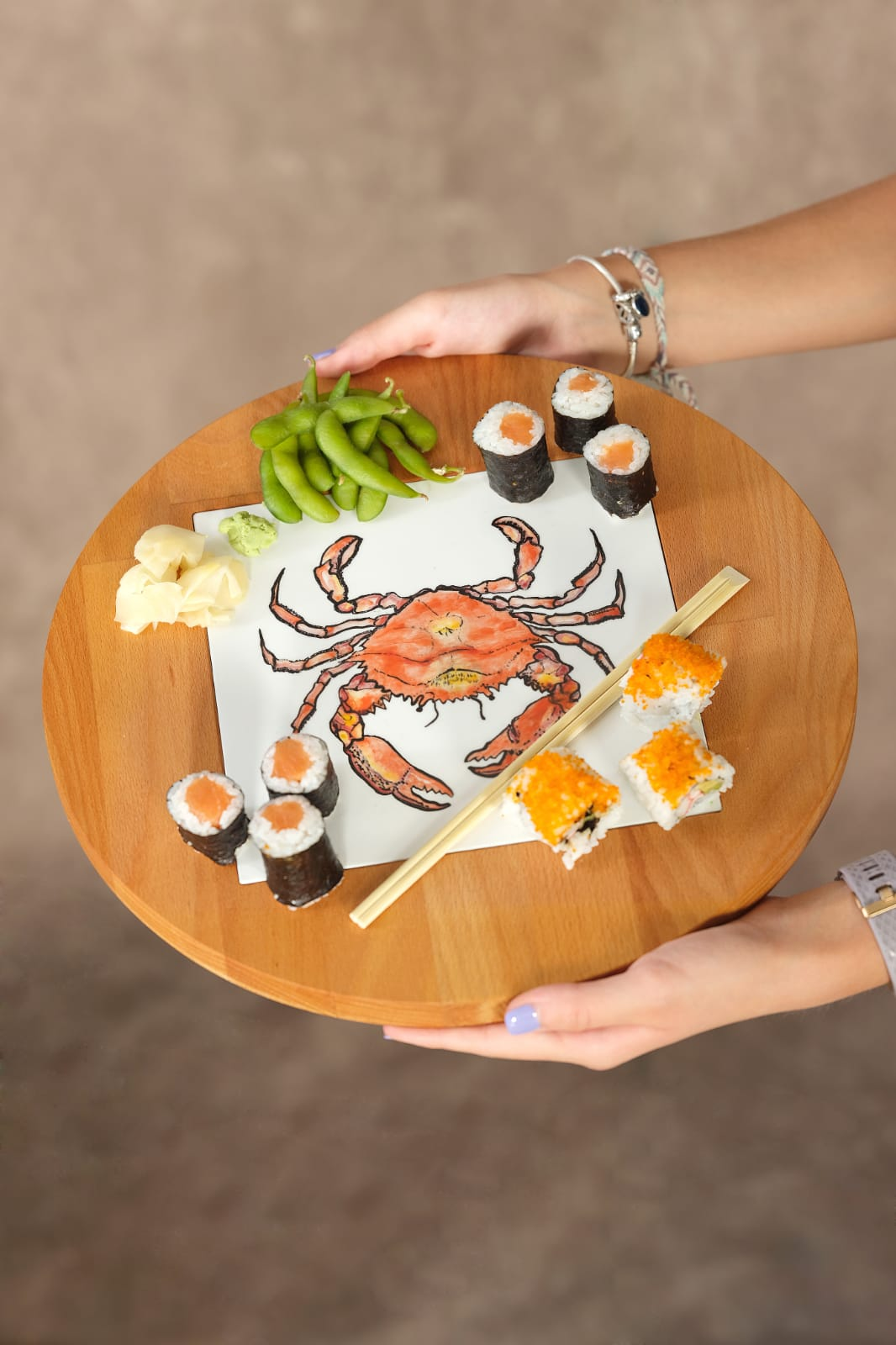 service plate sushi plate