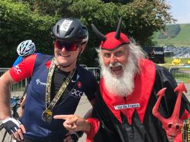 Jonathan Mason and Didi the Devil, after the Dragon Ride 2018
