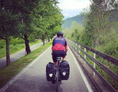 Dave Nash riding the Via Claudia Augusta through Germany, Austria and Italy.