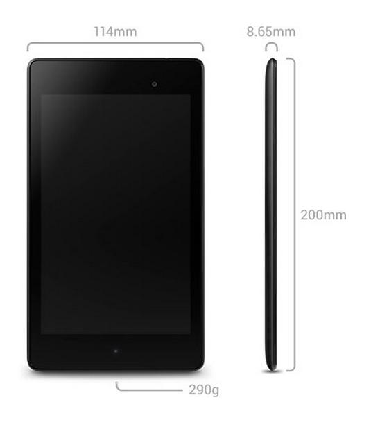 Nexus 7 2 dims