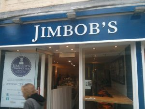 front of Jimbob's baguette shop