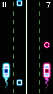 Neon 2 Cars Racing Saga in-game screen. Image used with permission.