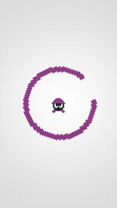 Pixel Robot Jump in purple. No headaches...yet.
