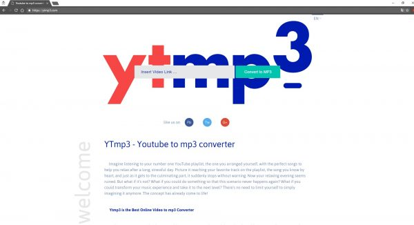 Convert YouTube videos to mp3 files for free, instantly and