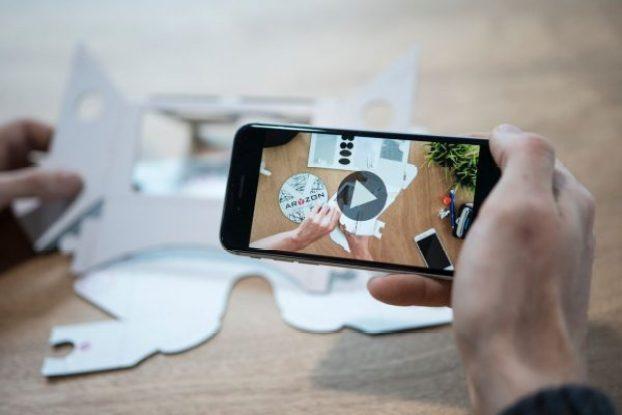 aryzon headset cardboard augmented reality