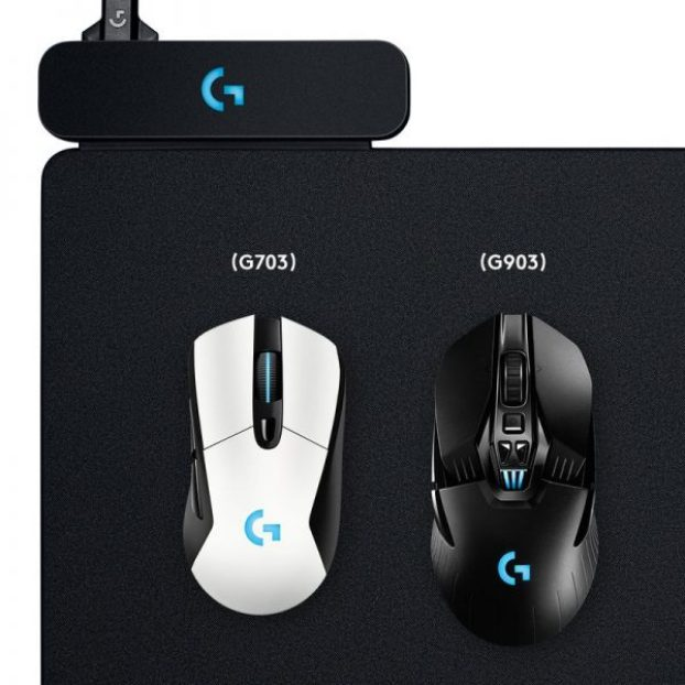 logitech logo gaming mouse powerplay lightspeed