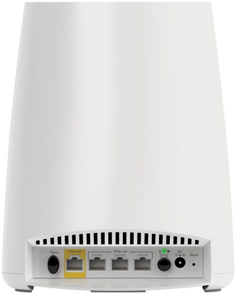 Orbi Rbk40 Review And Giveaway Oxgadgets Diagram Besides Gear Router Setup On Netgear Hook Up The Back Allows You Access To Ethernet Ports As Well Ability Turn Device Or Off Sync Button Set Between