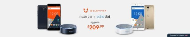 wileyfox swift 2 x amazon alexa echo dot
