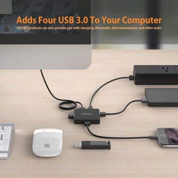 qicent 4 port usb hub review