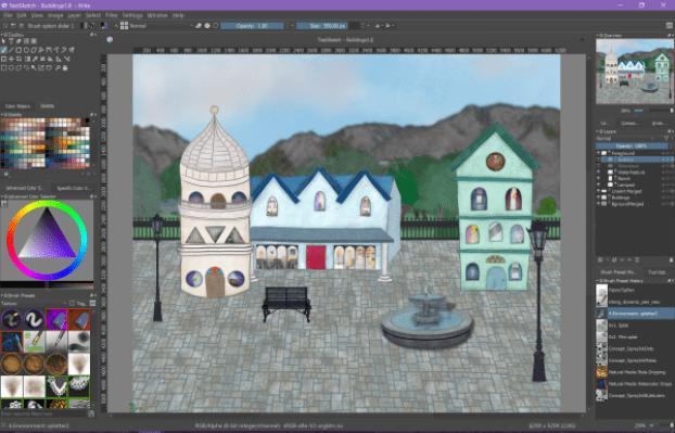 Digital painting almost complete digital art