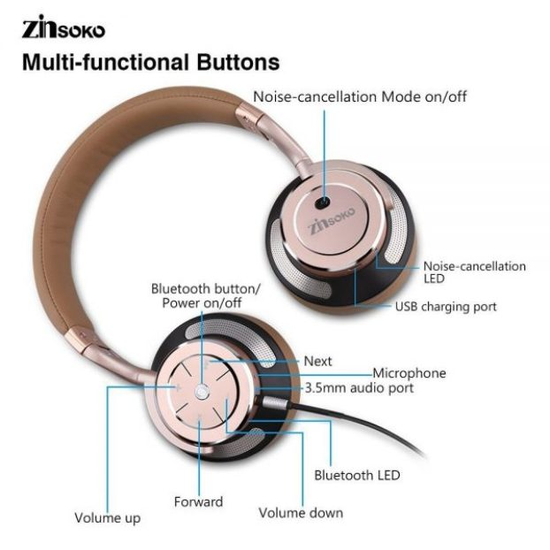 c27de835f7b The headphones come fully loaded with buttons, which make the device pretty  easy to use. Almost every function has a button, an LED or a voice prompt.