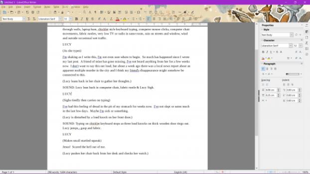 LibreOffice document desktop screenshot word processing free alternative word office program