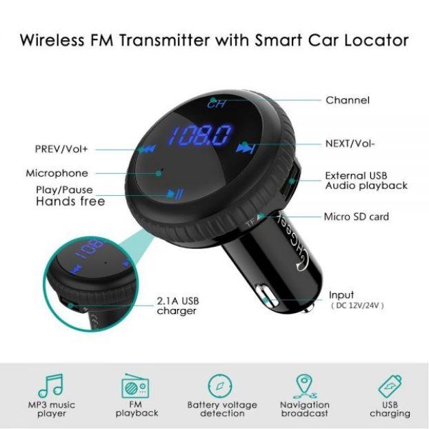 Giveaway: CHGeek Bluetooth-FM-MP3-Car Locating Gizmo! - OxGadgets