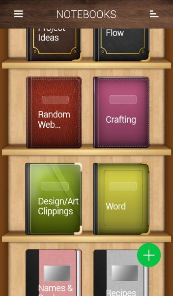 note books pro bookcase bookshelf app android creating characters digital notes