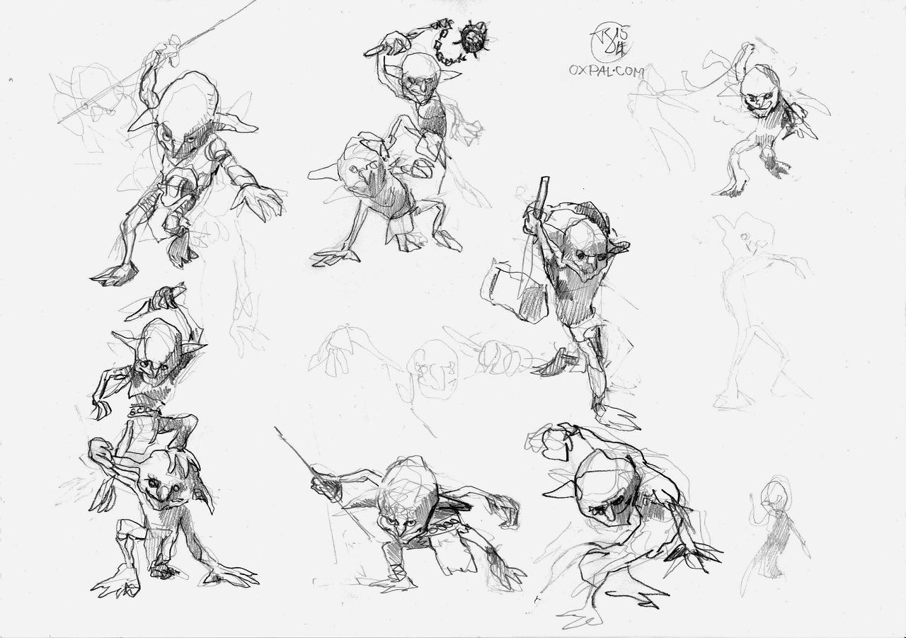 Goblin Packed Fantasy Illustration Thomas Schmall