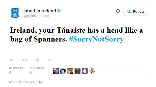 Irish Israeli Twitter