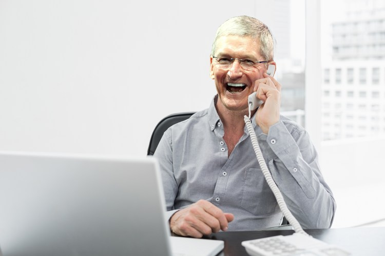 Tim Cook singing an impassioned version of Mustang Sally to a disgruntled Apple consumer.