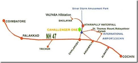 Indian Niagara Falls – in Kerala Map
