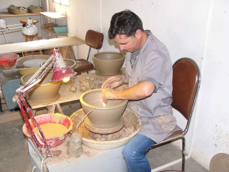 un artisan de Molelos