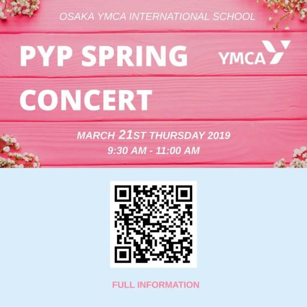PYP Spring Concert 2019 Information