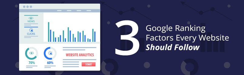 3 Google ranking factors every website should follow