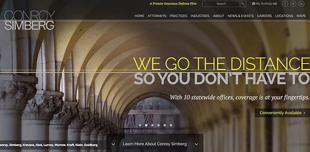 conroy simberg law firm website design