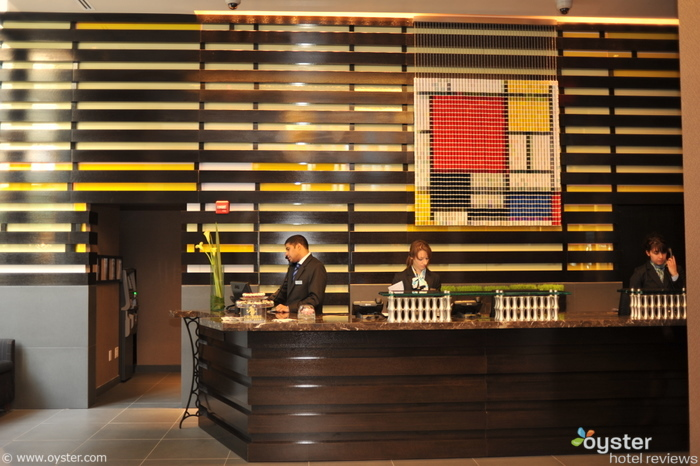 The front desk at Fashion 26