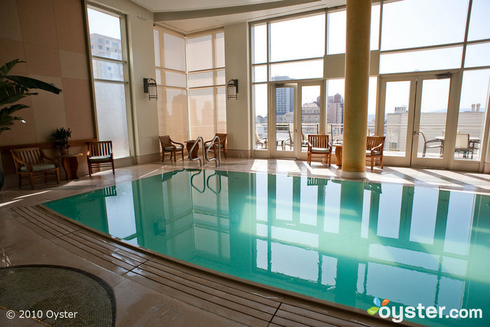 The spa at the Huntington Hotel includes a beautiful pool