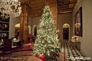 Lobby decorations at the Gramercy Park Hotel