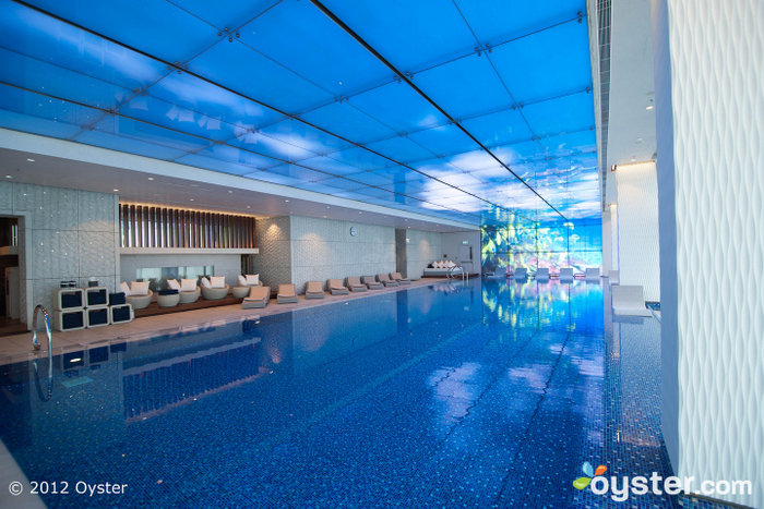 The gorgeous indoor pool has great views and a Jacuzzi