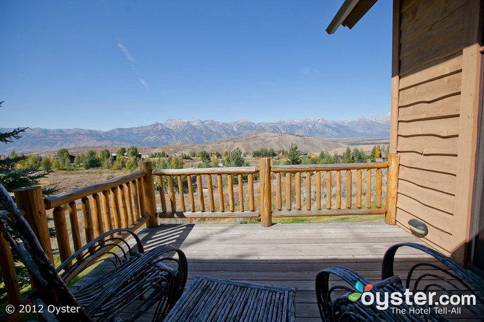 O Cottonwoods Villa no Spring Creek Ranch oferece vistas inspiradoras dos Tetons.