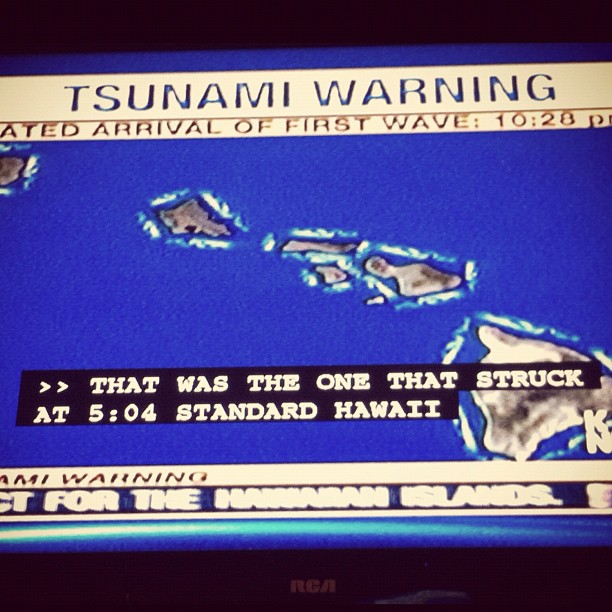 Though their tour is back on schedule, the band's Hawaii show was cancelled because of a tsunami threat. Talk about a good story!