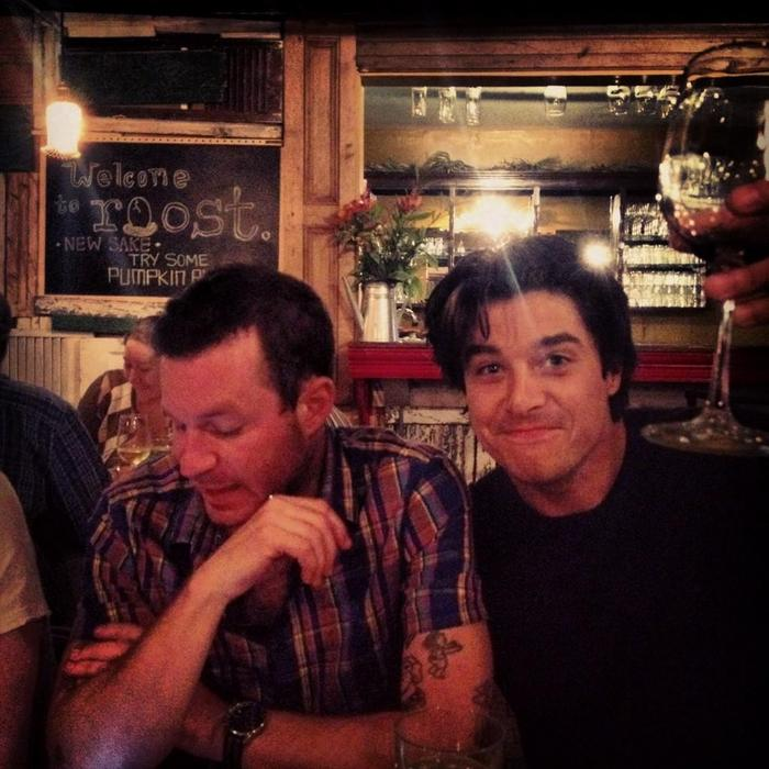 Delta Spirit hanging out before performing in Houston last week.