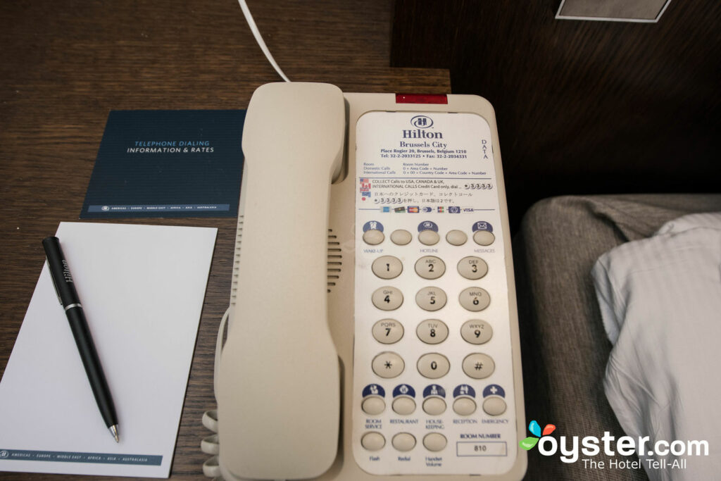 The Hilton Brussels City(NEW on Oyster!) has branded Hilton phones in every room.