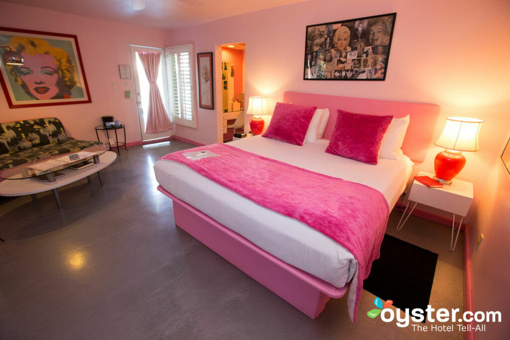 La suite Pretty in Pink en Palm Springs Rendezvous / Oyster