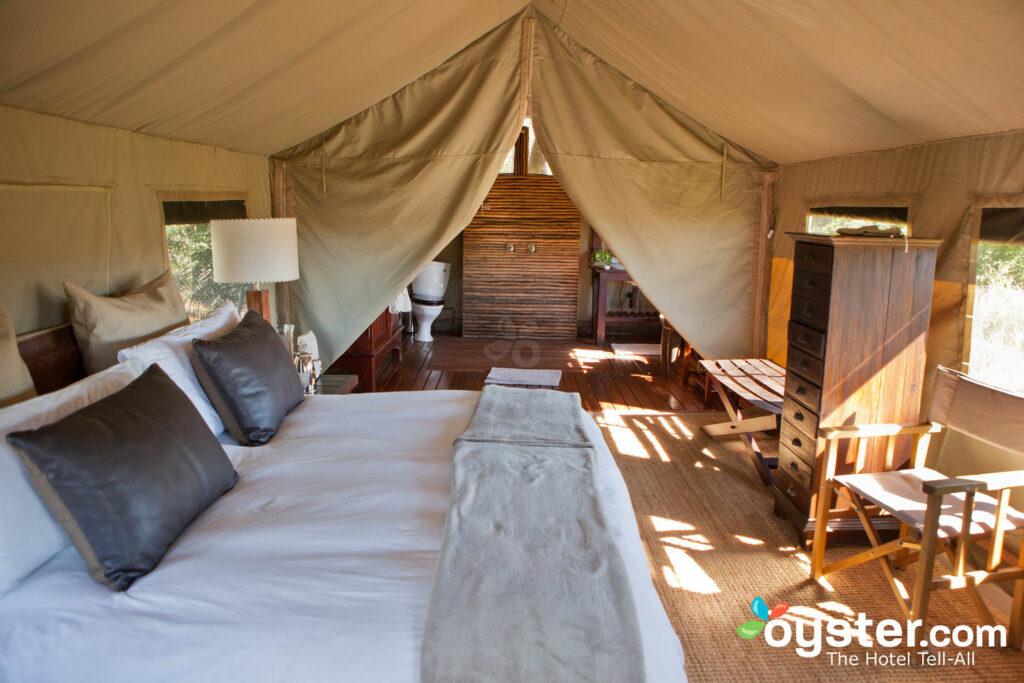 Safari Tent at andBeyond Nxabega Okavango Tented Camp